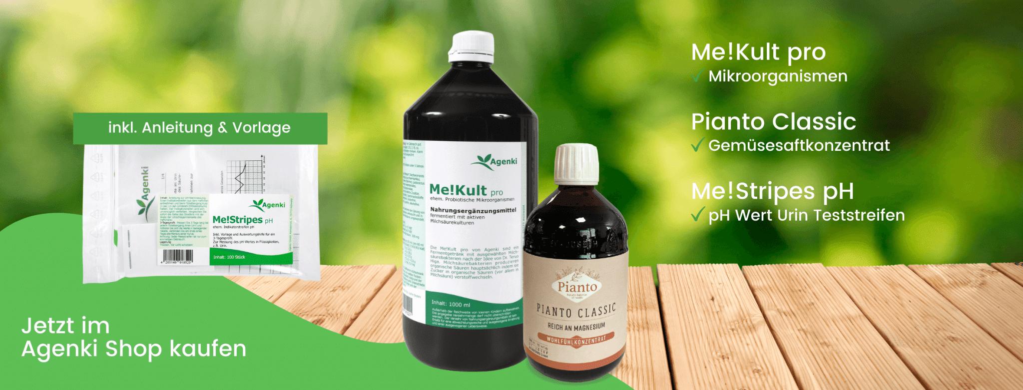 Me!Kult pro Mikroorganismen, Pianto Classic & Me!Stripes pH pH Wert Urin Teststreifen - Agenki