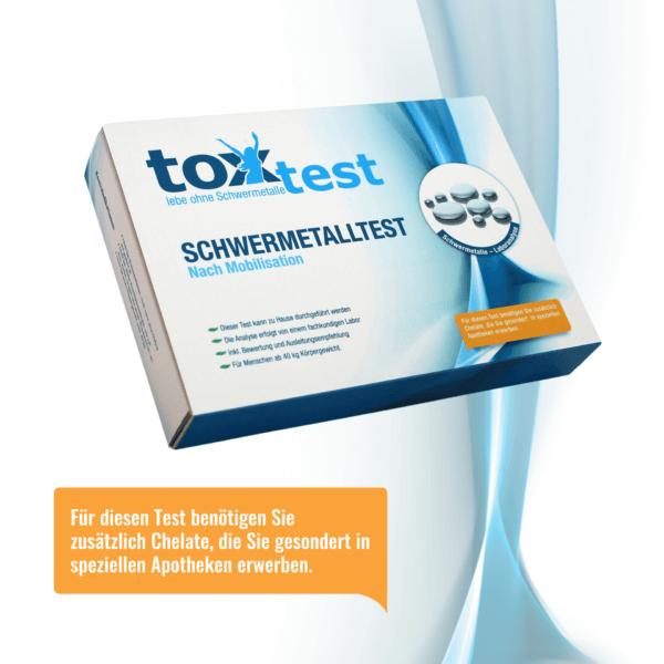 Inkl. Mobilisation mit Chelaten - ToxTest – Der Schwermetall Test zum Selbermachen - Urintest