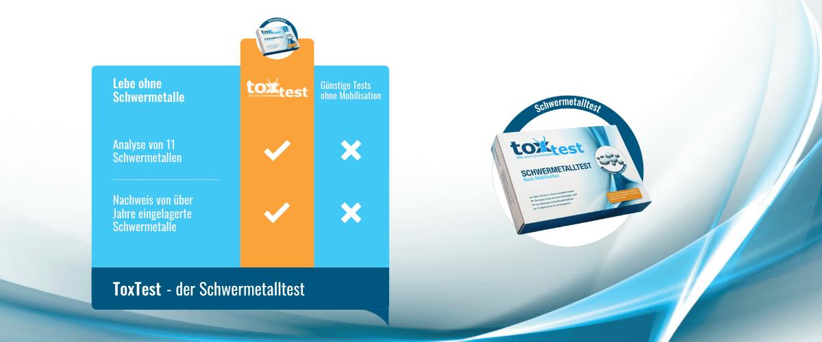 Vorteile des Schwermetall Tests ToxTest