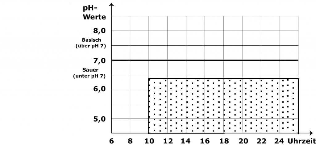 Vorlage für Tagesprofil bei der pH Wert Messung