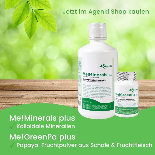 Me!Minerals plus Kolloidale Mineralien & Me!Green Pa plus Grüne Papaya - Agenki