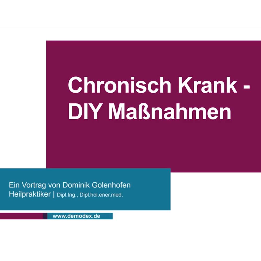 Chronisch krank DIY - Stärkung des Körpers